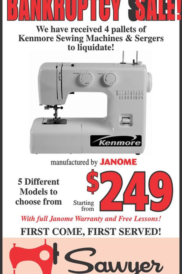 Sewing Machine Bankruptcy Sale
