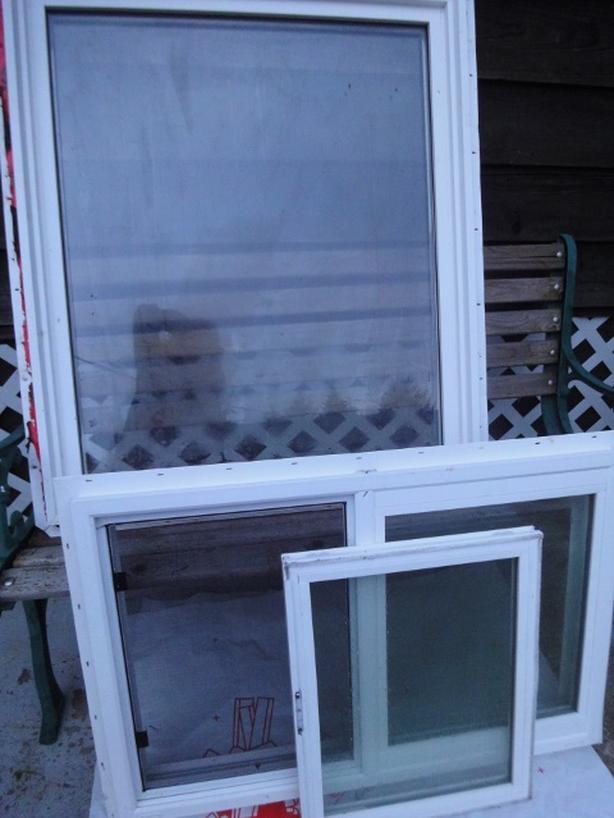 (2) White Vinyl Window Pkgs. (Prices Below)