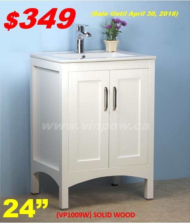 Bathroom Vanities from $109! Hurry! Limited Time!