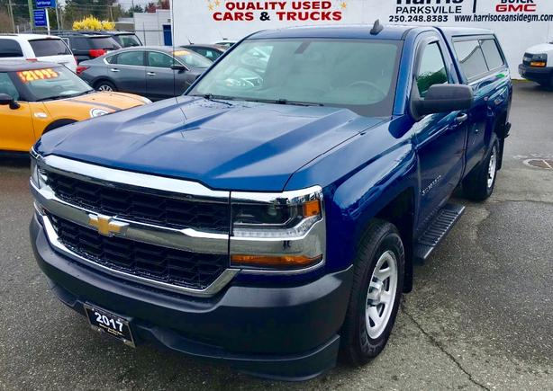 Slightly Used 2017 Silverado 1500 Reg Cab 2WD with Matching Canopy