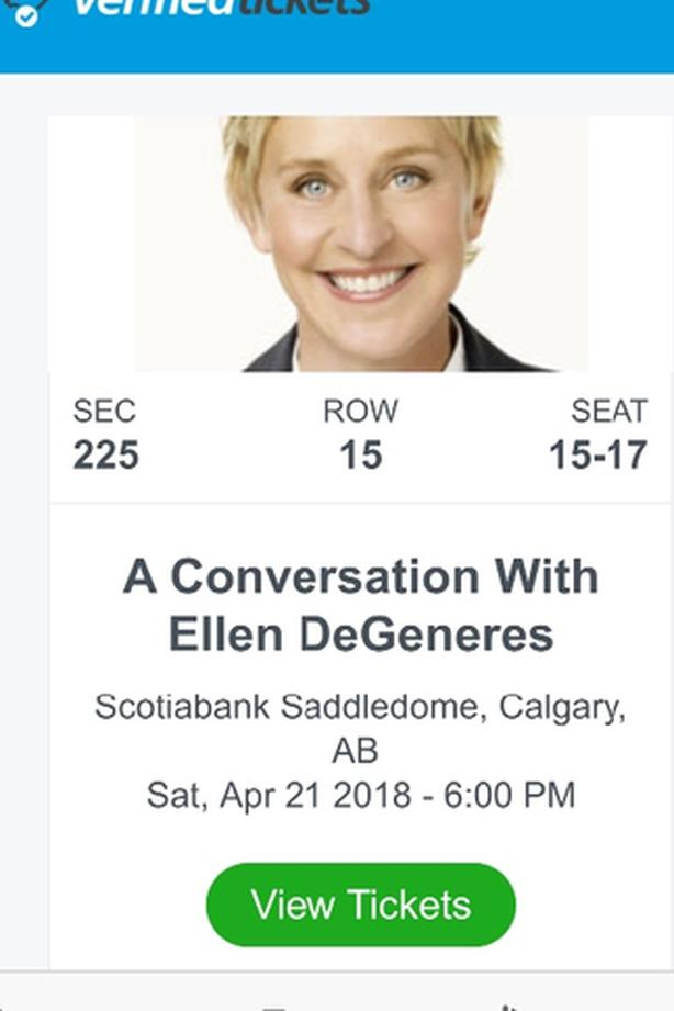 REDUCED A Conversation With Ellen Ticket for sale