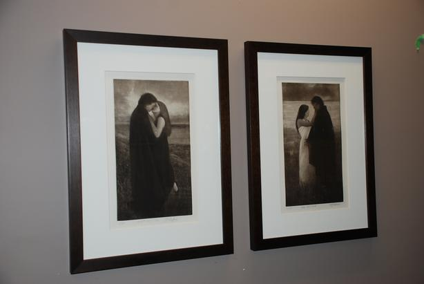 Romantically-themed Original Canadian Artwork (two etchings)