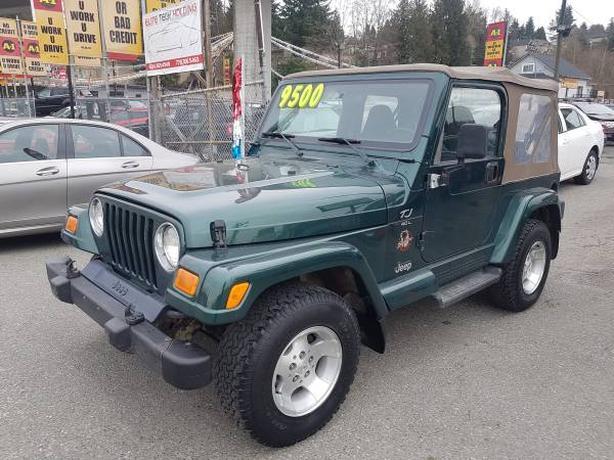 2000 Jeep Wrangler TJ Sahara Edition, Manual Trans. 209 K's, Warranty