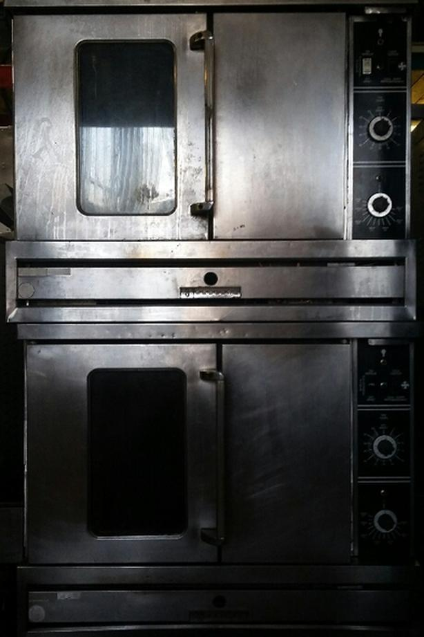 Double deck Garland convection oven gas
