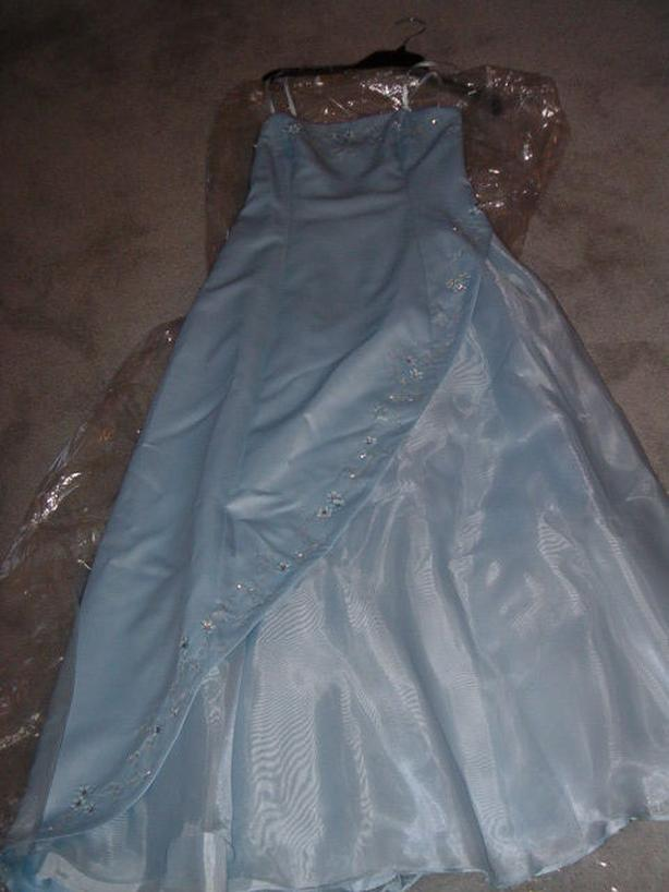 dress , blue by Jessica . size 8 , grad , wedding