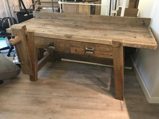 **Price Lowered** Rustic Work Bench or Wood Desk