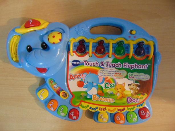Vtech Touch & Teach Elephant ABC Musical Educational Large 15 x 12 inches
