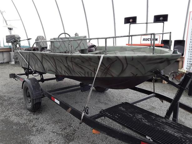 17 Foot Fibertech Boat & Trailer