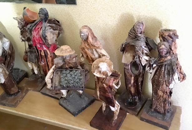 Lot of Paper mache vintage dolls