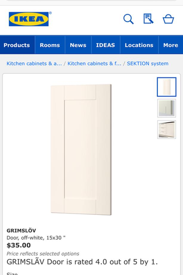 """2 new 15""""x30"""" cabinet doors"""