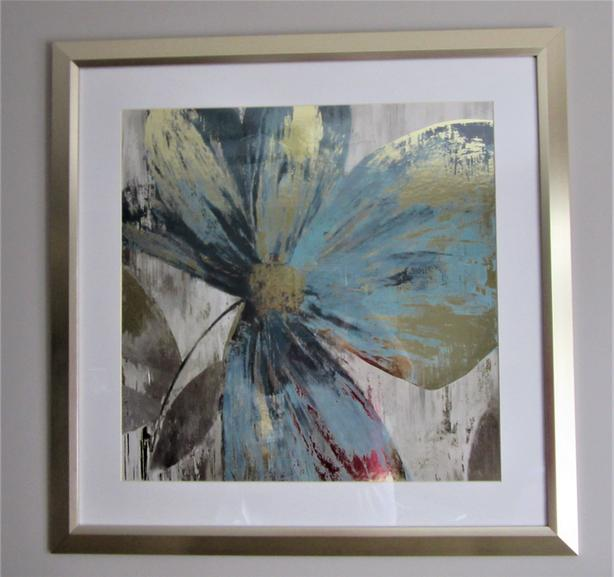 GISEL II PAINTING PRINT IN BRASS EMBOSSED FRAME