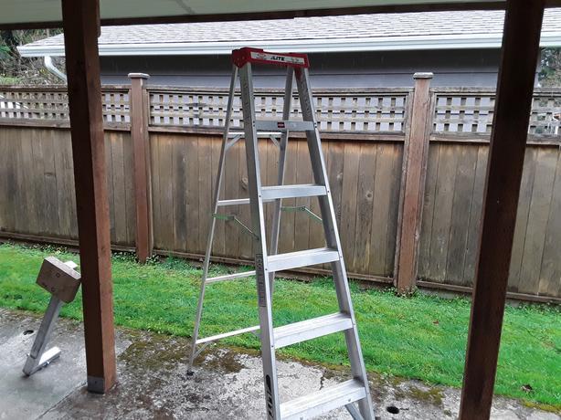 Extention ladder + step ladder