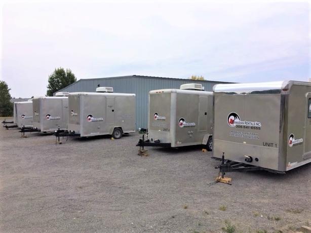 Event rentals trailer washroom