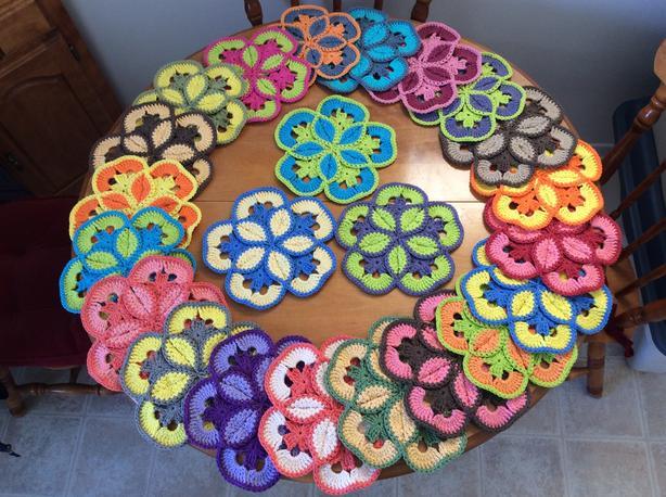Handmade Starburst Hotpads