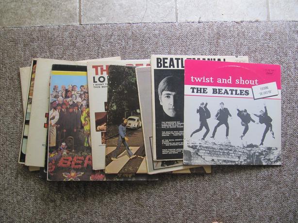 BEATLES LP & 45 RPM Collection Plus Vintage Record Album