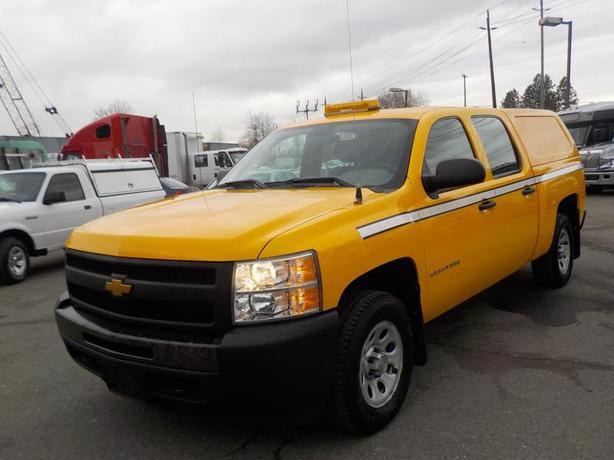 2013 Chevrolet Silverado 1500 Work Truck Crew Cab Short Box 4WD Canopy