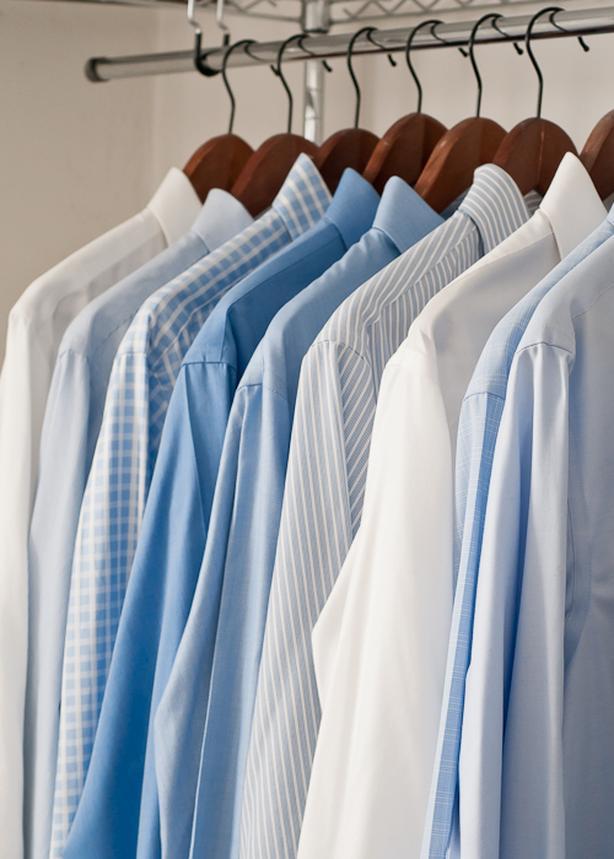 6 Men's Dress Shirts, 6 Men's Dress Pants , 3 Sports Jackets