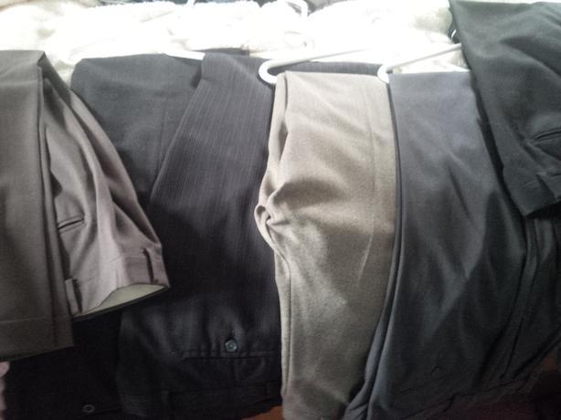 6 Men's Dress Pants , 2 Sports Jackets (like new)