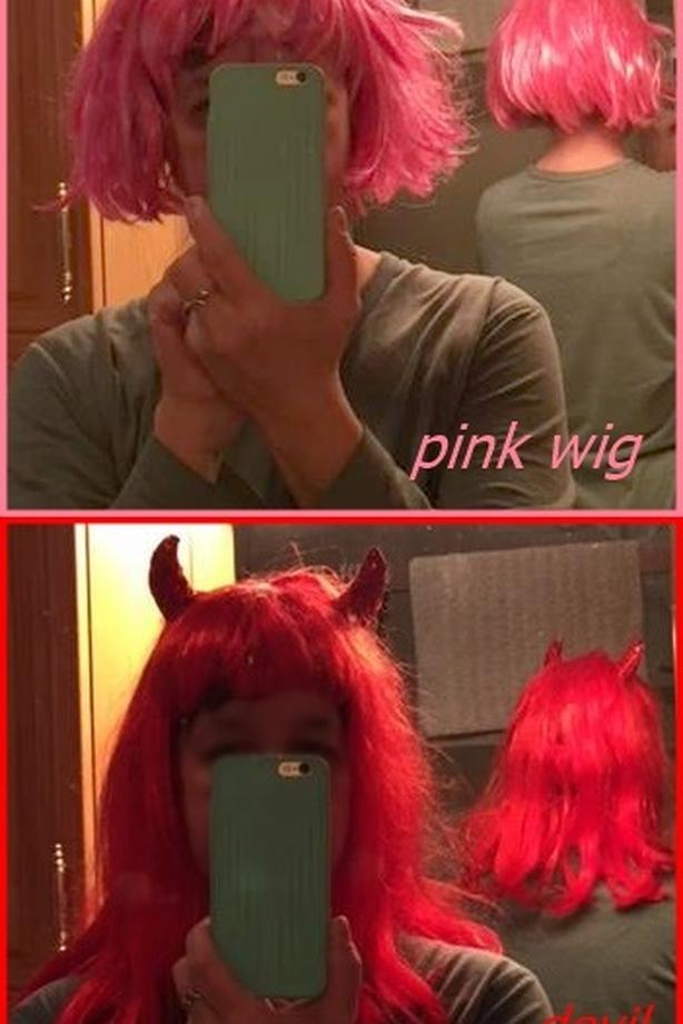 wigs (red // pink)