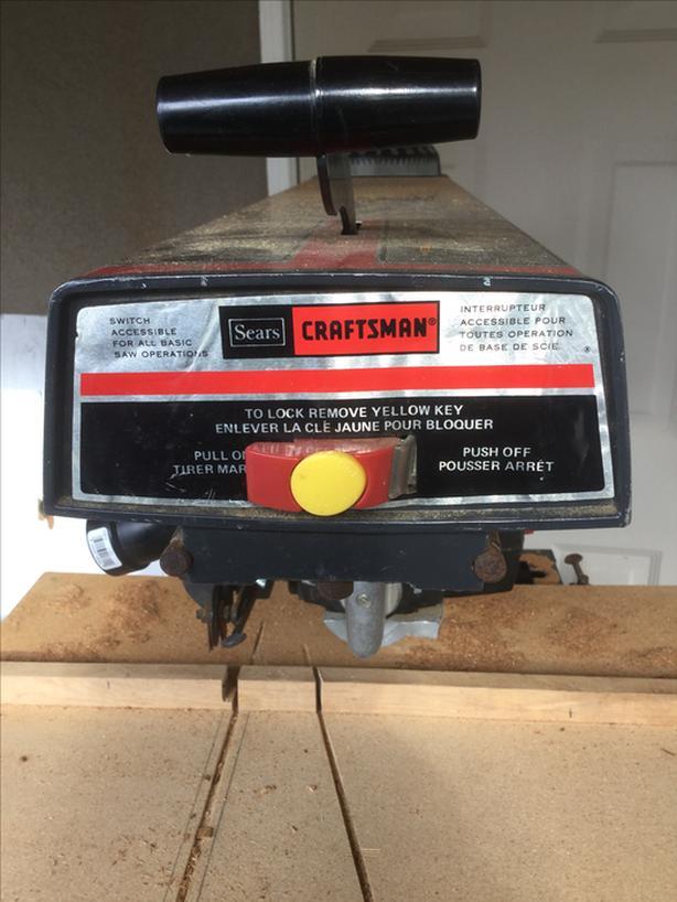 10 inch Craftsman RADIAL ARM SAW