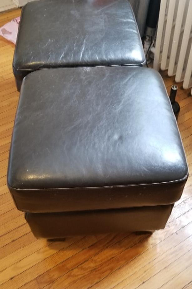 leather ottomans for sale