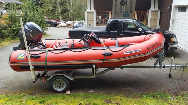 2009 Zodiac Futura Mark III with 50hp Yamaha four-stroke outboard and trailer