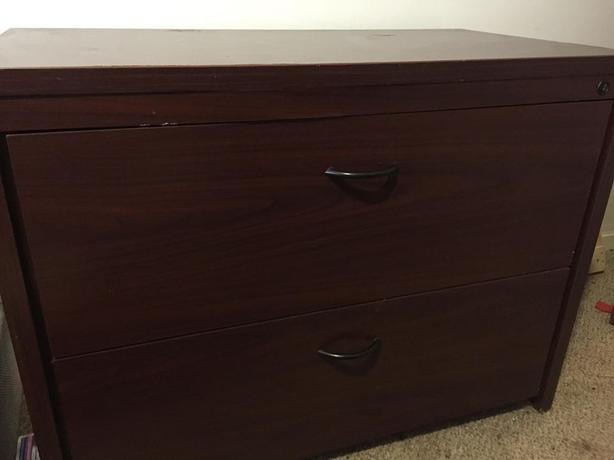 2 drawer unit with lock