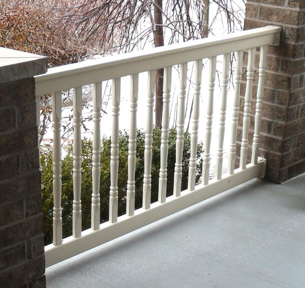 Like-New Exterior Hand-Rail PARTS for a Deck or Porch, and Steps