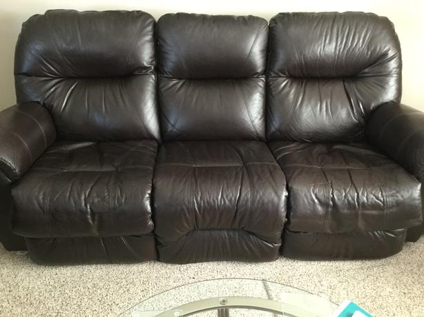 Leather sofa& chair electric recliners