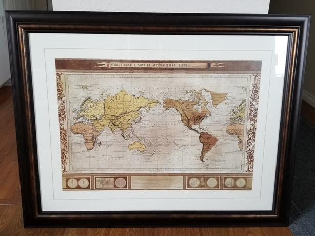 Old world map in frame wall art esquimalt view royal victoria old world map in frame wall art gumiabroncs Image collections