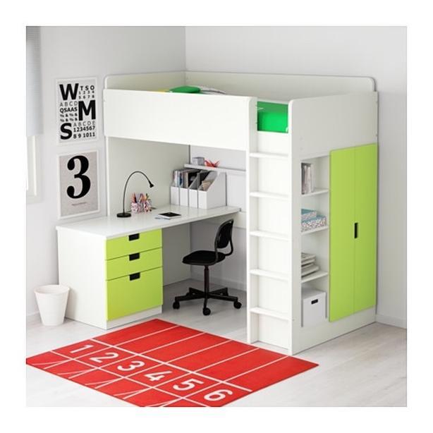 Ikea STUVA twin loft bed w/ mattress