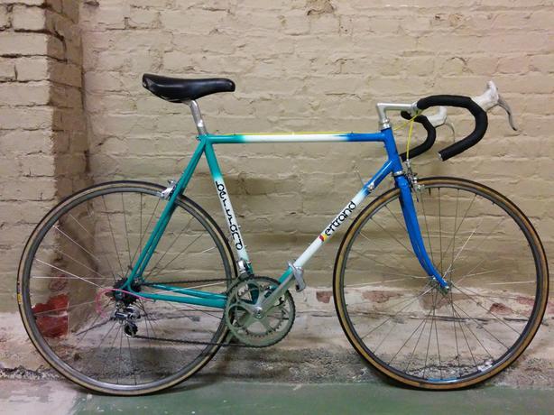 Vintage Bertrand 1000 road bike, handmade steel, Campagnolo Chorus components