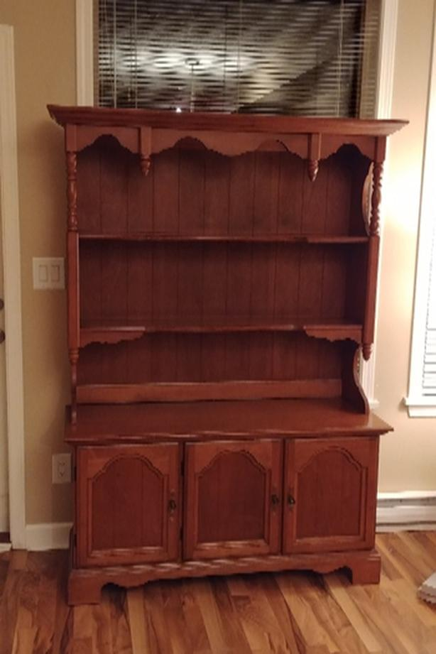 Vintage Solid Wood Buffet and Hutch