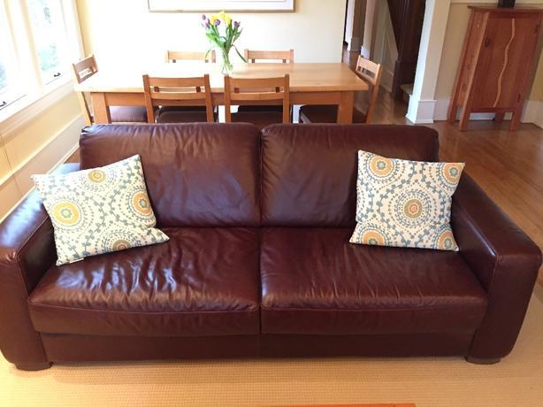 Natuzzi Milan leather sofa