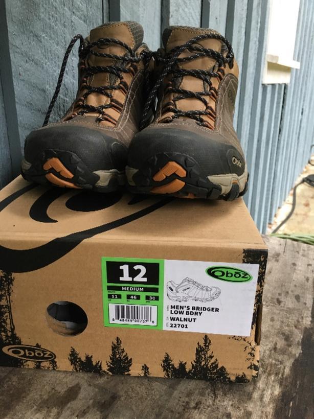 Oboz Bridger hiking shoes mens 12