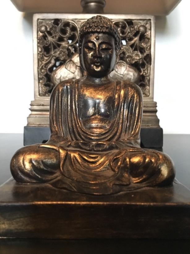 Brown Golden Buddha Figure