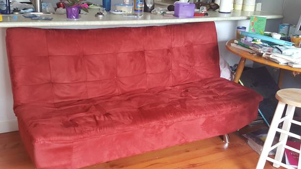 Burgandy Ultra Suede Couch-