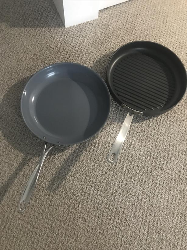 Two Nearly New Frying Pans