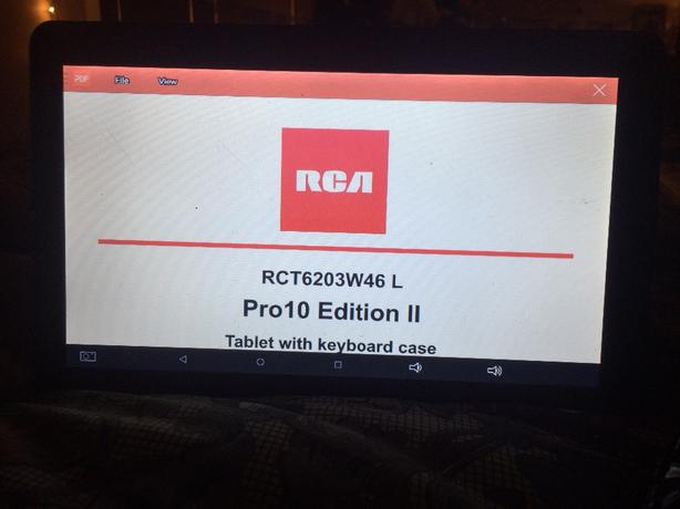 RCA Pro10 Edition II Tablet with keyboard case