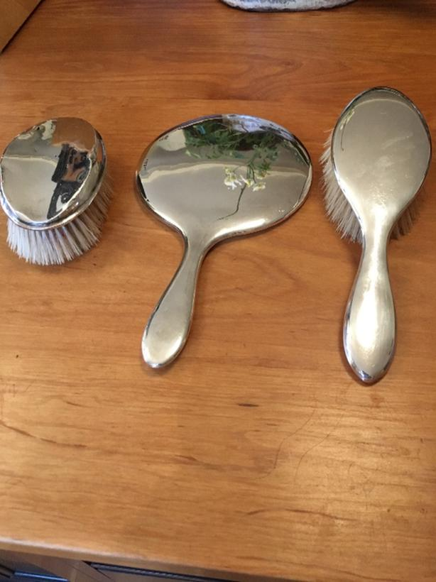 English Sterling Silver dresser set