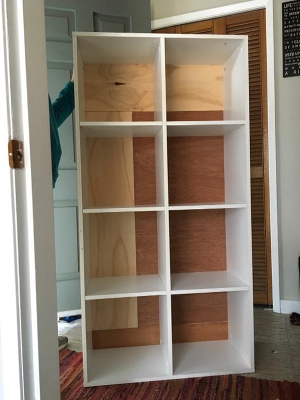 bookshelf, cubbies, 8, white,