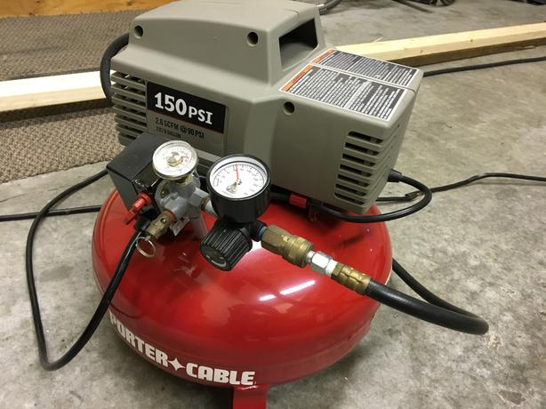 Porter Cable Pancake Compressor and  Brad Nailer