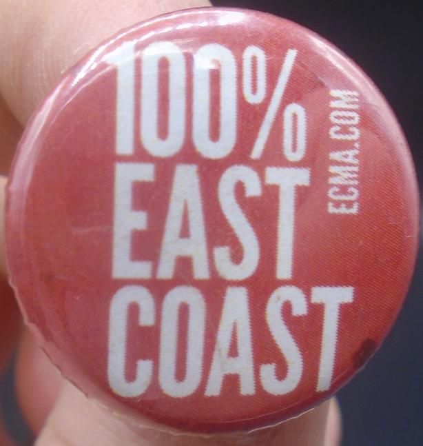 """CANADA EAST COAST MUSIC AWARDS """"100% EAST COAST"""" PINBACK BUTTON"""