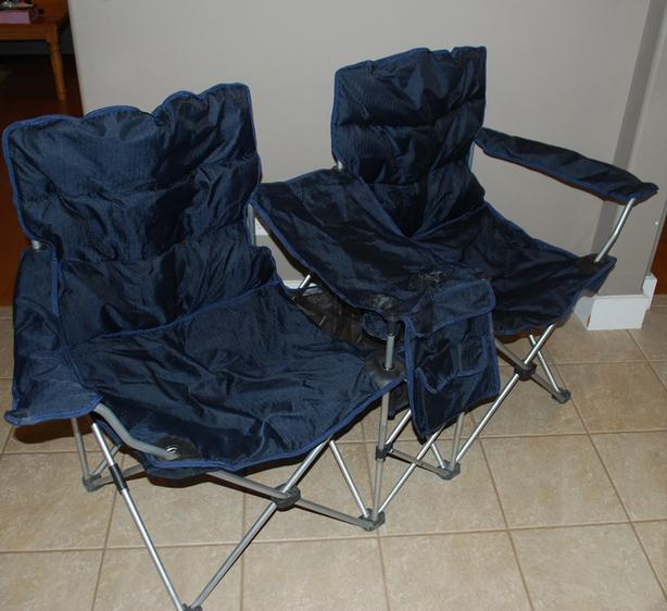 Big Double Folding Chair with Center Table/Drink holder/pockets