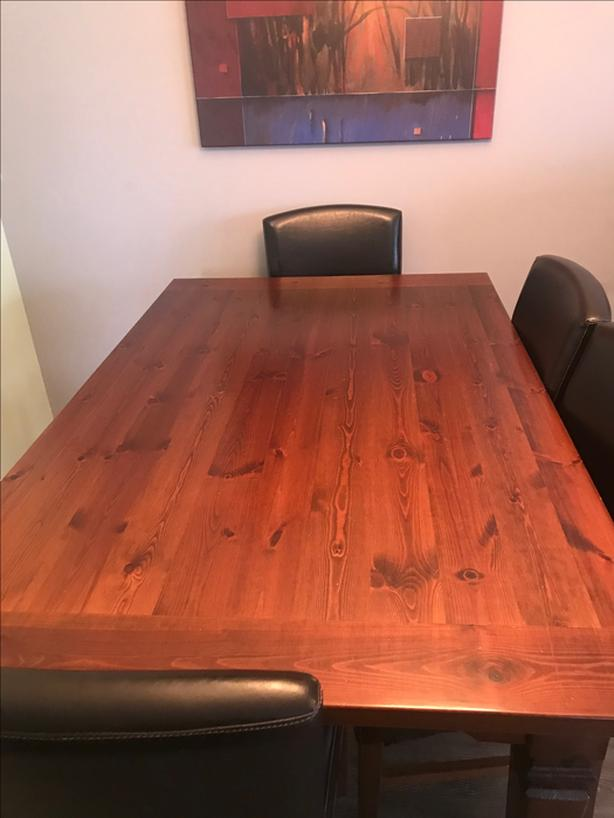 Large Solid Dining Room Table