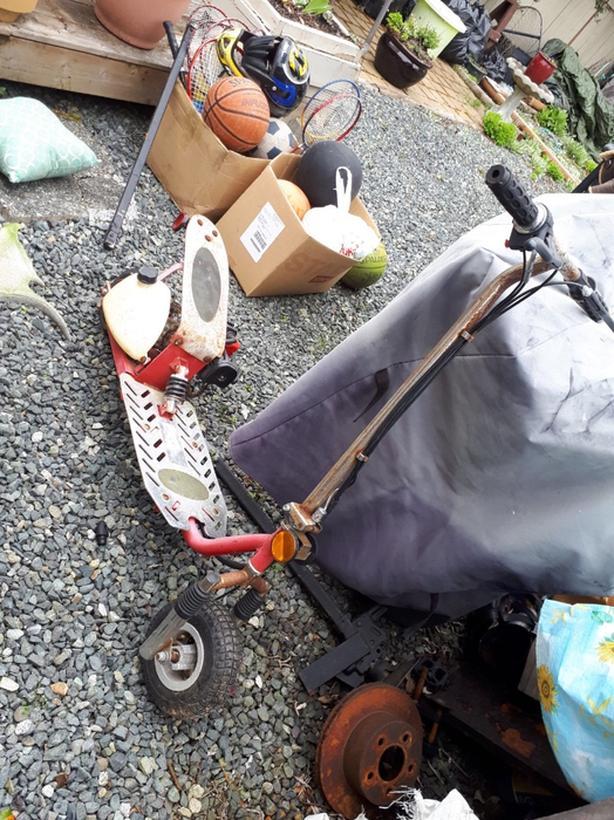 Gas powerd scooter