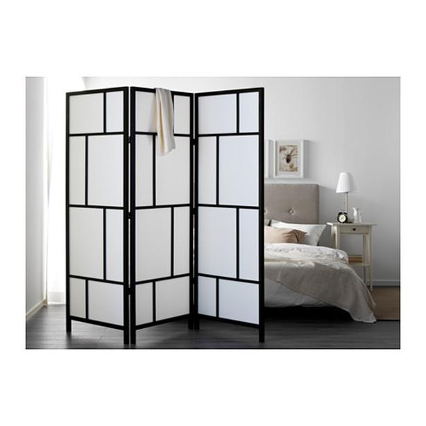IKEA RISOR Room Divider Screen Black / White - Excellent Condition