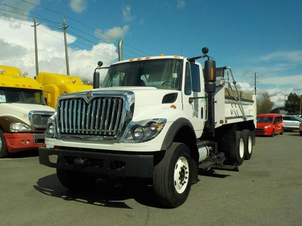 2011 International 7500 Tri-axel Diesel Dump Truck & Plow Automatic with Air bra