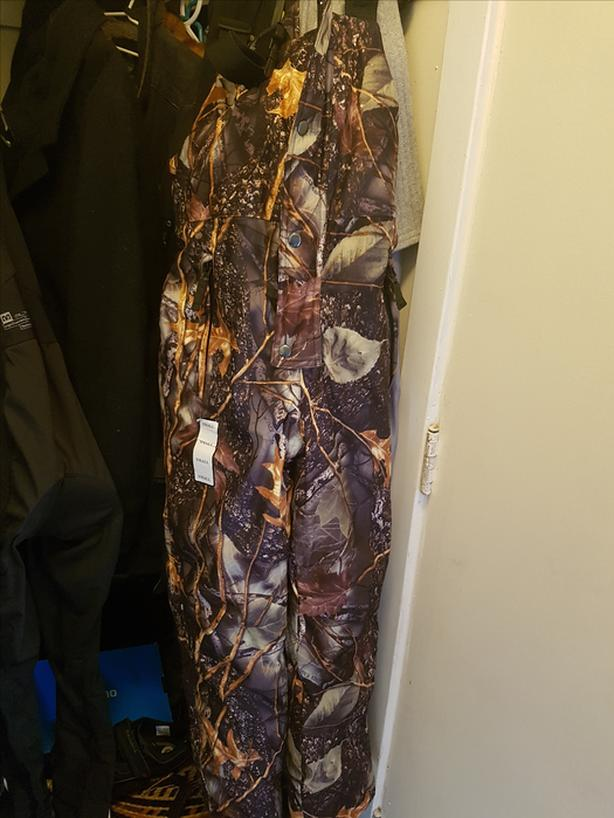 WFS camo winter overalls SMALL