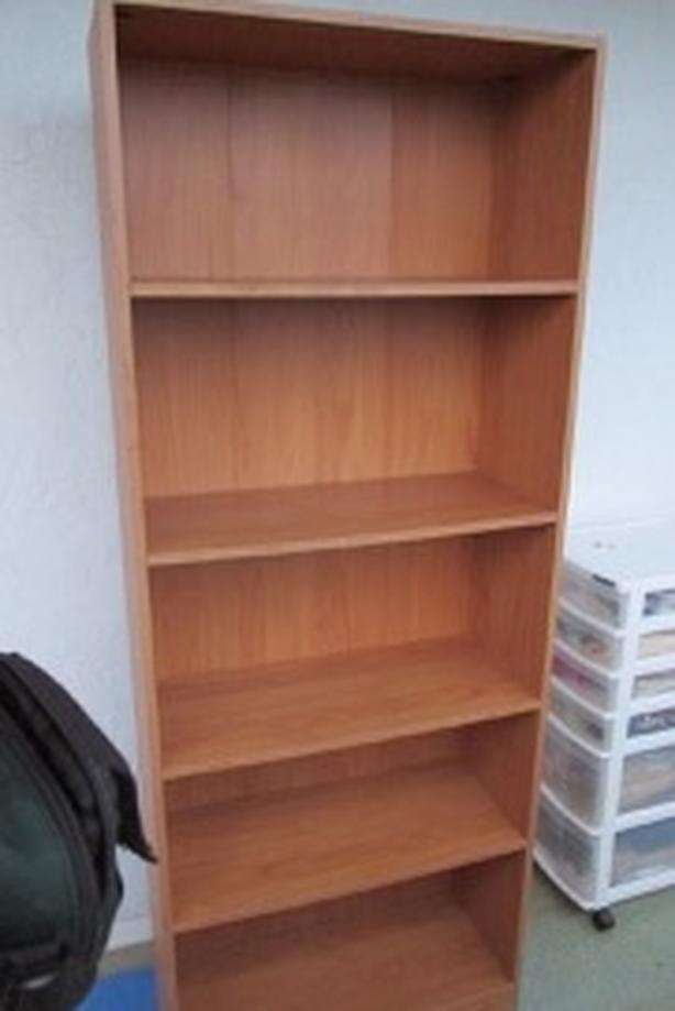 Laminated 5 shelf bookcase